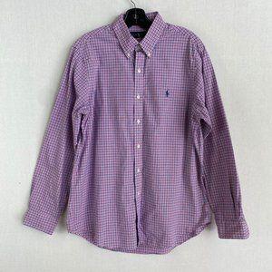 RALPH LAUREN Pink Plaid Shirt